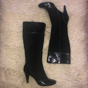 TAHARI MAXIE high heeled leather boot 7.5M